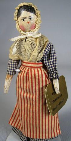 All Original Peg Wooden Grodnertal Doll