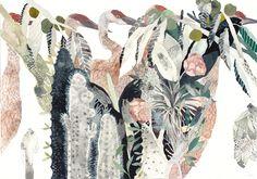 Cranes Garden Archival Print by unitedthread on Etsy