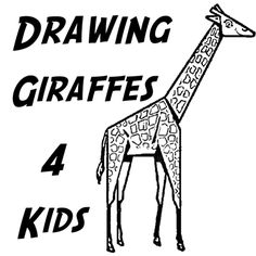 Did you ever wonder how to draw a giraffe but didn't think that you were a good enough artist to draw one? Well, below you can find a simple shapes giraffe to learn how to draw. This is an easy enough drawing tutorial for young kids and preschoolers if a Mom or Dad helps the children draw it.