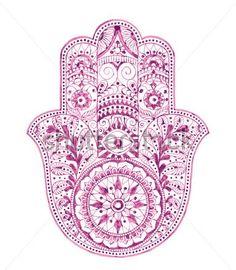 Hamsa Hand Tattoo Design
