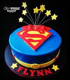 Superman cake, superhero cake, birthday cake for boys