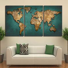 Hd Printed Canvas Art World Map Canvas Painting Vintage Continent Wall decor World Map Painting, World Map Wall Art, World Map Canvas, World Map Decor, 3 Piece Canvas Art, Canvas Wall Art, 3 Panel Wall Art, Buy Canvas, Canvas Prints