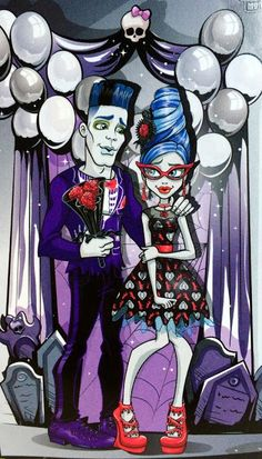 All about Monster High: Slo Mo & Ghoulia Yelps love story...