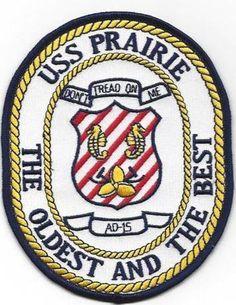 AD-15 USS PRAIRIE PATCH - VERSION B