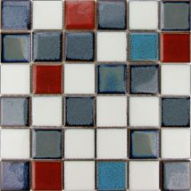 Keram.mozaika MIX s patin. modrá 4,8/4,8