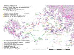 Kyösti Rannon tekemä Saaristolautat-kartta.