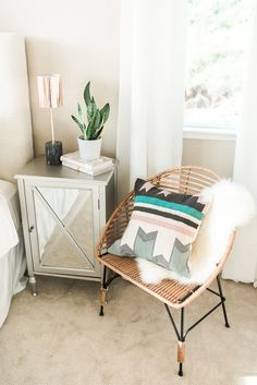 Mirrored Bedside Table | SMP Living