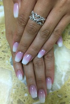 Love these white and pink ombre acrylic nails | Nails in ...