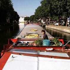 Bateau PANURGE en cabriolet. #canalsaintmartin #binnenvaart