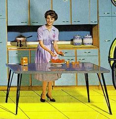 cuisine années 50