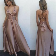2017 Long Simple Sexy Floor-length A-line Sexy Pretty Prom Dresses.RG0077 #promdresses