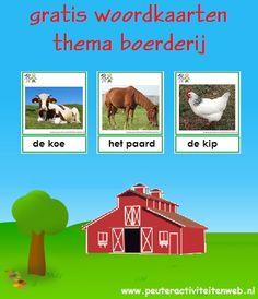 woordkaarten op de boerderij www.peuteractiviteitenweb.nl