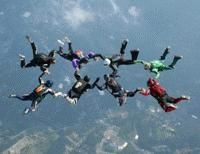 Free fall from 13,500 feet above the Pocono Mountains on a skydive, with views of the Manhattan Skyline on your float to the ground.