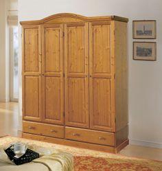 Cabina armadio 3 porte con struttura in legno di pino massiccio di svezia verniciata con - Mobili in pino di svezia ...