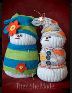 Sock Snowmen! :: Keep little hands busy with these winter crafts | #BabyCenterBlog #kidscrafts