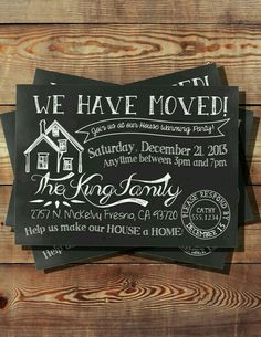 We Have Moved House Warming Invitation by BooBooBeanCreations Moving Home, Moving Day, Moving Tips, 30th Birthday Ideas For Women, Birthday Woman, Partys, House Party, Open House, Party Planning