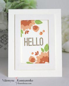 Hello Card for AAA Cards - Flourishtina