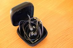 AudioTechnica headphones in a handy travel case