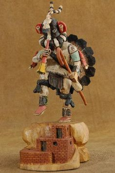 Native American HOPI Indian KOKOPELLI Kachina M HOWARD