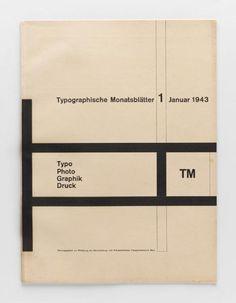TM Typographische Monatsblätter, issue 1, 1943. Cover design: Richard Paul Lohse