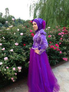 hjab fashion...Turkish Engagement dress