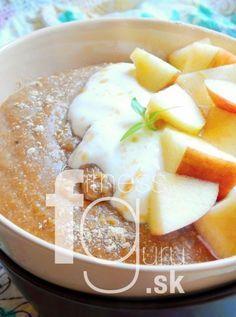 Proteínová ovsená kaša bez proteínového prášku Pudding, Cheese, Breakfast, Food, Smoothie, Fitness, Morning Coffee, Custard Pudding, Essen