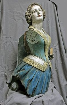 Ship's Carved Figurehead From The British East Idianman Ship PHOEBE 1844   (via Pinterest)