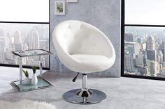 Height-adjustable swivel armchair Couture Living white swivel chair in lounge design Riess AmbienteRiess Ambi - Height-adjustable swivel armchair Couture Living white swivel chair in lounge design Riess Ambiente - Lounge Design, Sofa Design, Office Lounge, Lounge Chair, Workspace Design, Home Office Design, Office Designs, Architecture Desk, White Office