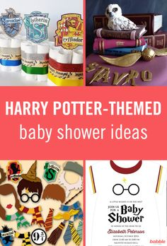 Harry Potter-Themed Baby Shower Ideas That Are Straight Out of Hogwarts – Suis Enceinte Baby Harry Potter, Baby Shower Harry Potter, Theme Harry Potter, Harry Potter Decor, Harry Potter Wedding, Harry Potter Gifts, Harry Potter Birthday, Baby Shower Themes, Baby Boy Shower