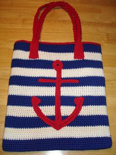I& been on a stashbusting kick as of late. This latest project used up some of my Brown Sheep Cotton Fleece stores. I give you the Ancho. Crochet Anchor Applique, Crochet Cross, Bead Crochet, Free Crochet, Crochet Market Bag, Crochet Tote, Crochet Handbags, Crochet Purses, Purse Patterns