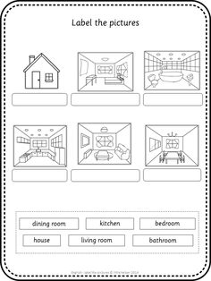 label the rooms of a house in spanish printout enchantedlearning cra kinder spanish house. Black Bedroom Furniture Sets. Home Design Ideas