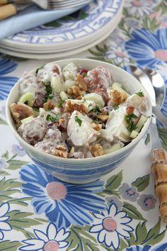 Waldorf Potato Salad http://ridgelysradar.com/2017/08/waldorf-potato-salad.html