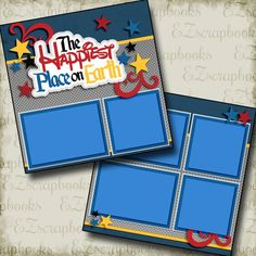 Happiest Place on Earth 2961 is part of Scrapbook Layout Ideas Disney - 12 premade scrapbook pages Double page Layouts like look! Ideas Scrapbook, Paper Bag Scrapbook, Disney Scrapbook Pages, Scrapbook Templates, Scrapbook Page Layouts, Scrapbook Supplies, Scrapbook Cards, Scrapbooking Ideas, Vacation Scrapbook
