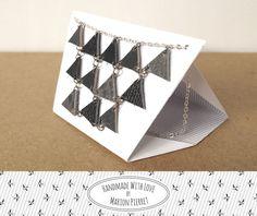 Collier Pythagore en Cuir Noir par HandmadeWithLoveByMP sur Ets €28,00 EUR