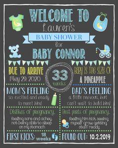Baby Boy Shower JungleSafari Baby Shower Pregnancy Stat Sign Print Yourself Baby Shower Chalkboard Sign Baby Shower Ideas
