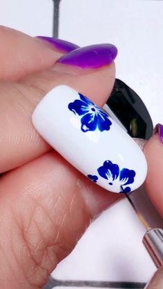 Nail Art Designs Videos, Nail Design Video, Nail Art Videos, Simple Nail Art Designs, Winter Nails, Spring Nails, Summer Nails, Nail Art Hacks, Nail Art Diy
