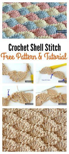 Crochet Shell Stitch Free Pattern and Tutorial