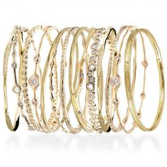 There's nothing more fun than a set of gold bangles. Stack them high or wear just a few. Either way, I love the look and the sound! ~ Catherine of Veranda magazine
