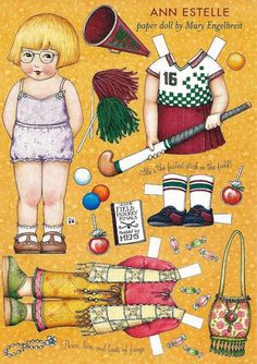 Mary Englebreit Ann Estelle Paper Doll Uncut Page from Home Companion Magazine | eBay