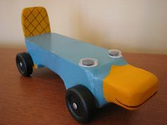 Tony's pinewood derby car! Thanks Cheryl for the idea! Just need to paint it now!