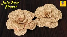 How to Make Jute Flower Jute Flowers, Diy Flowers, Flower Diy, Burlap Crafts, Decor Crafts, Hairpin Lace Crochet, How To Make Rose, Diy Tassel, Flower Making