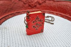 mini Book copper necklace Book necklace Tiny book by twistedByAna
