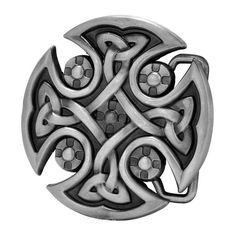 Adult Unisex Celtic Maltese Cross Gothic Medieval Belt Buckle Silver