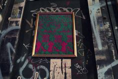 """We're All Friends Here,"" a machine-knit street art installation by Sam Meech with Marilène Gaudet"