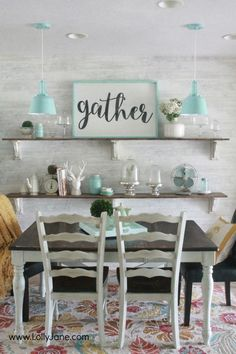 Gorgeous farmhouse dining room. All the tips to achieve this look without breaking the bank!