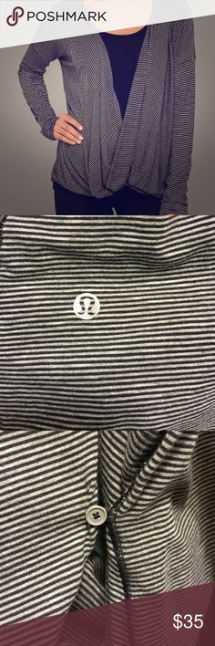 Lulu lemon Beyond yoga drape top NWOT Sleeves are too long for me so I never wore it. The tear away tag has been removed. It also has a small button for a more fitted look lululemon athletica Other