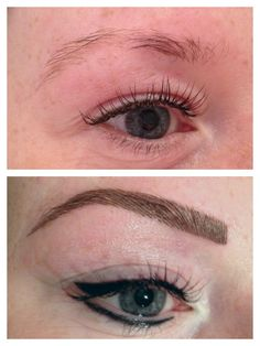 #permanentmakeup eyebrows and eyeliner done by me www.joannelee.me.uk xxx