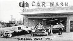 Lowell Car Wash, 168 Plain Street - built and opened in 1962 by brothers Philip & David Levine (MALEV Trust), the company remaines in the Levine family today. The trust was named for their dad (Max Levine, Car Wash, Street, Vehicles, Massachusetts, David, Vintage, Rolling Stock, Vintage Comics, Walkway