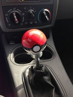 Pokeball Shift Knob for vehicle | | This is awesome. Thomas and I have to have this! Krissy :) |