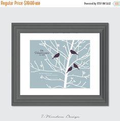 ON SALE Family Tree Love Birds Personalized by 7WondersDesign